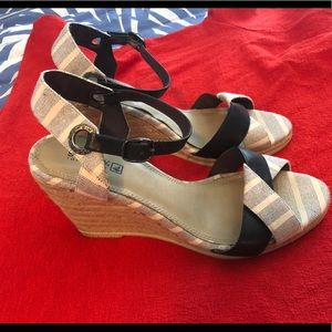 SPERRY sandal Wedge nautical shoes 8.5